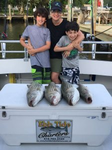 Mother and Sons Fishing Trip